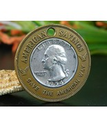 Encased 1954 Quarter American Savings Detroit M... - $24.95