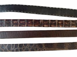 Lot 4 Martin Dingman Men Crocodile Hand Crafted USA Leather Belt 40 LEN Lizard image 2