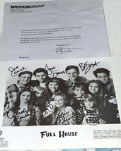 Full House Cast Autographed 8x10 Rpt Promo Photo W Letter Great Show - $15.99