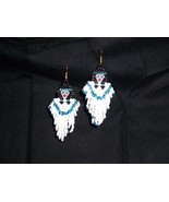 NEW!!!  Handmade Indian Maiden Angel Dangle Seed Bead Earrings  - $10.99