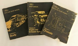 Ford 1973 Car Shop Manuals Volume 1, 4 & 6 Chassis, Body, Engine & Emissions - $11.76
