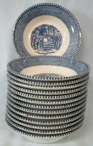 Royal Currier & Ives Blue Fruit Bowl Set of 14 - $42.46