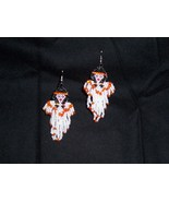 New Handmade Indian Maiden Angel Dangle Seed Bead Earrings  - $10.99