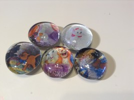 GM233 - Aristocats, The Glass Magnets - Set of 5 - $2.00
