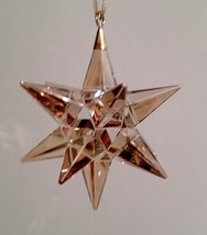 Swarovski Star Ornament Golden Shadow  - $80.00