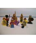 8 Lego Minifig lot Queen's Royal Guard Aztec Warrior Series 5 - $29.95