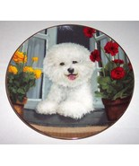 A Perfect View Poodle Dog Collectible Plate by Michele Amatrula Danbury ... - $64.00