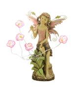 Solar Peony Blooms on garden yard Fairy Statue - $34.79