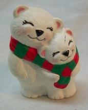 "Hallmark 1994 Merry Miniatures POLAR BEAR MOM & CHILD 1 1/2"" Plastic MIN... - $16.34"