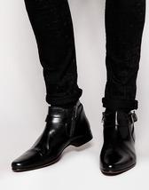 New Handmade Men Genuine Leather Shoes, Custom Men Stylish Buckel Dress Shoes - $149.99