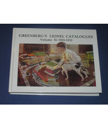 GREENBERG'S LIONEL CATALOGS VOLUME II: 1923-1933 - $175.00