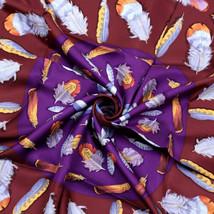NWT Auth Hermes Scarf PLUMES II 90cm Silk Foulard HENRI DE LINARES - $429.95