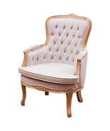 ELEGANT LINEN  FRENCH COUNTRY BERGERE CARVED ACCENT CHAIR,26'' X 27''D X... - $599.00