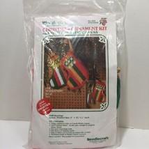 "Stocking Christmas Ornament Plastic Canvas Kit WonderArt 4"" - $9.74"