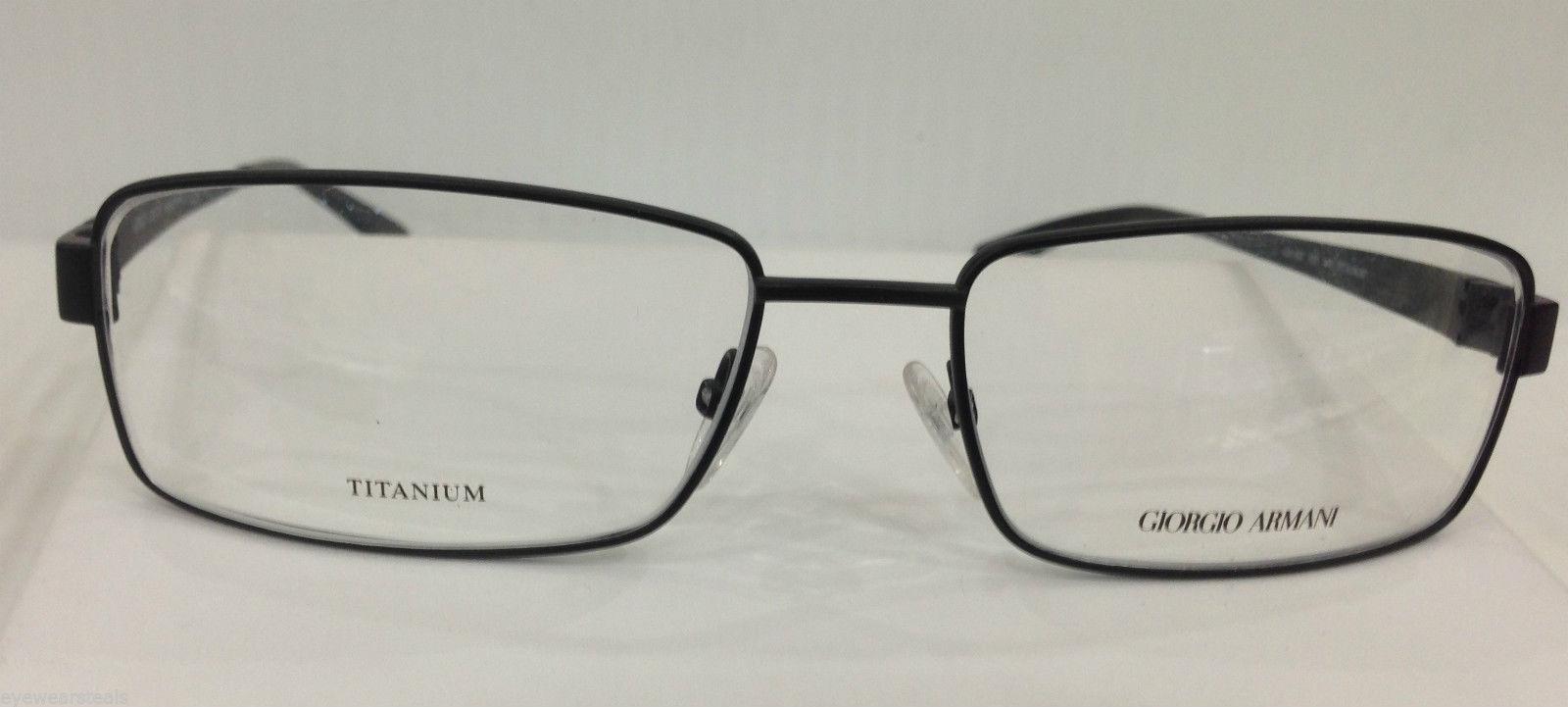 Giorgio Armani GA801 Col 003 Black Titanium Eyeglasses ...