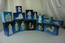 AVON Nativity Collection Vintage White Porcelain Figures 14 Piece Set  - $148.45