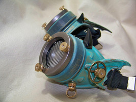Steampunk Engineer Brass Patina Goggles- Demon Spawn - $56.00