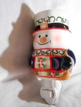 Snowman Plug In Candle Warmer Tart Melt Oil Holidays Ceramic Mia Bellas Candles - $16.75