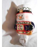SNOWMAN Plug In CANDLE WARMER Tart Melt Oil HOLIDAYS CERAMIC Mia Bellas ... - $16.75