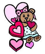 Valentine Pink Heart Candy and Bear-Digital Dow... - $3.00