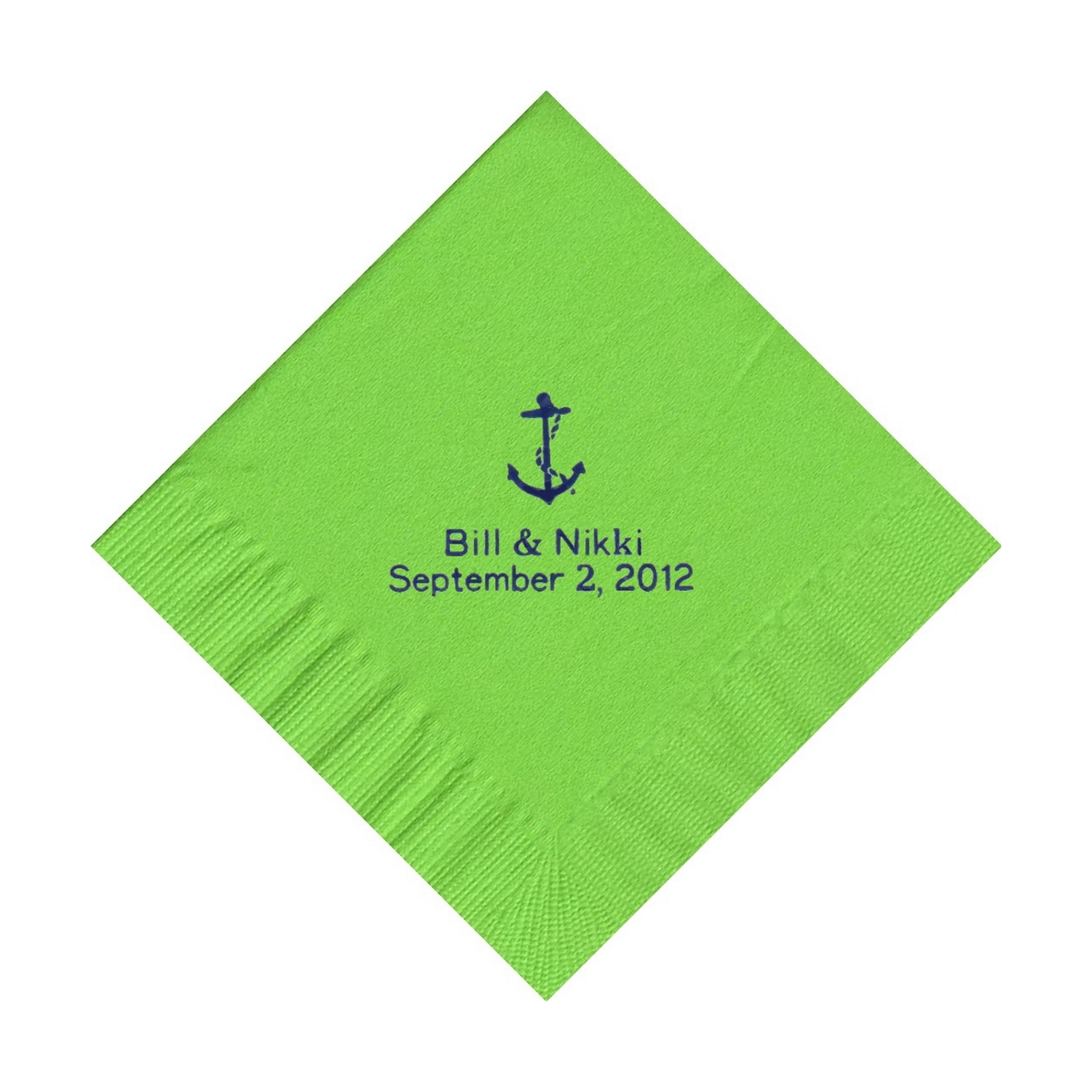 50 PERSONALIZED anchor printed BEVERAGE cocktail NAPKINS