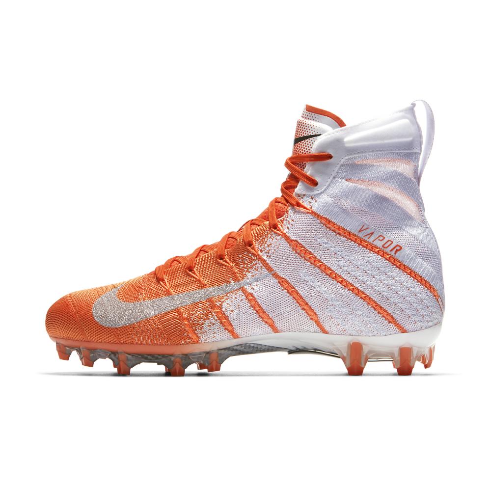 Nike Vapor Untouchable 3 Elite Football Cleats Orange White Size 11.5 AH7408-108 image 2