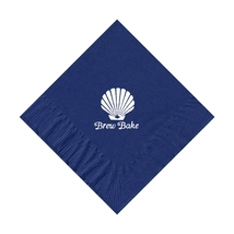 50 Personalized Clam Printed Beverage Cocktail Napkins - $9.95+