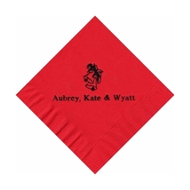 50 Personalized Holiday Bells Printed Beverage Cocktail Napkins  - $9.95+