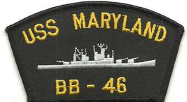 Us Navy Bb 46 Uss Maryland Patch - $7.97