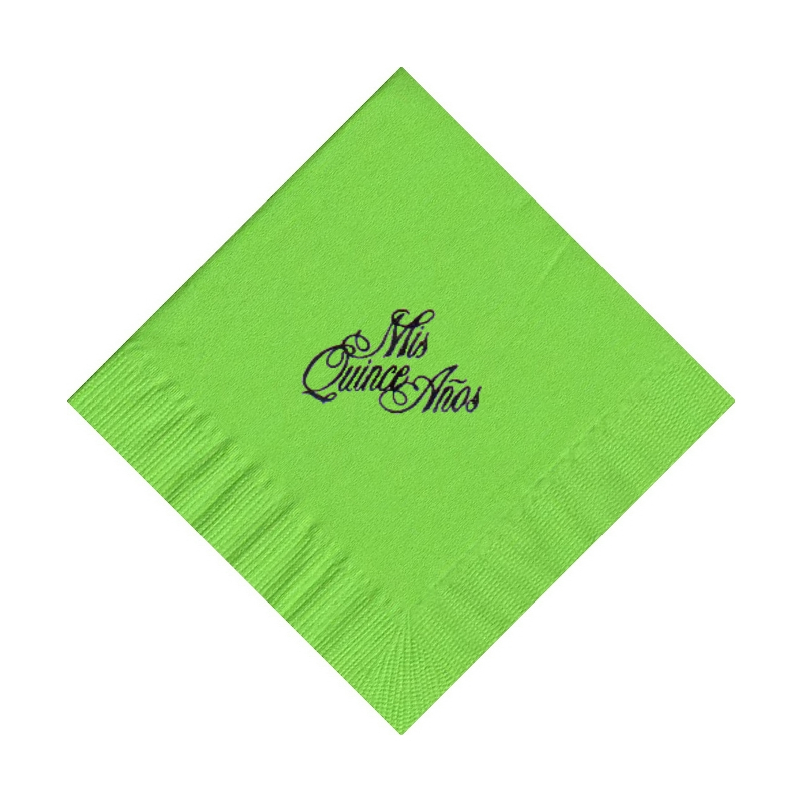 50 PERSONALIZED mis quince printed BEVERAGE cocktail NAPKINS
