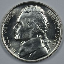 1944 D Jefferson uncirculated silver nickel BU  - $23.00