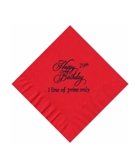 50 PERSONALIZED Happy Birthday  printed BEVERAGE cocktail NAPKINS - $9.95+