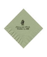 50 PERSONALIZED bride and groom printed BEVERAGE cocktail NAPKINS - $9.95+