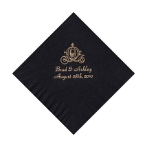 50 Personalized Carriage Printed Beverage Cocktail Napkins - $9.95+