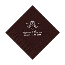 50 Personalized Claddagh Ring Printed Beverage Cocktail Napkins - $9.95+