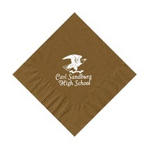 50 Personalized Eagle Printed Beverage Cocktail Napkins - $9.95+