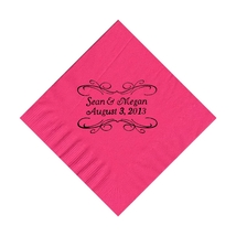 50 Personalized Pita Scroll Printed Beverage Cocktail Napkins - $9.95+