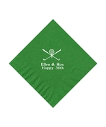 50 PERSONALIZED golf printed BEVERAGE cocktail NAPKINS - $9.95+