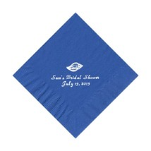 50 Personalized Shell Printed Beverage Cocktail Napkins - $9.95+