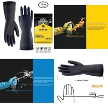 Double One Chemical Resistant Gloves,Safety Work Cleaning Protective Hea... - $12.21