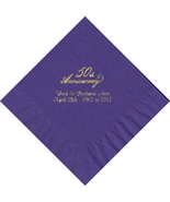 50 PERSONALIZED 50th Anniversary printed Luncheon dinner NAPKINS  - $11.95+