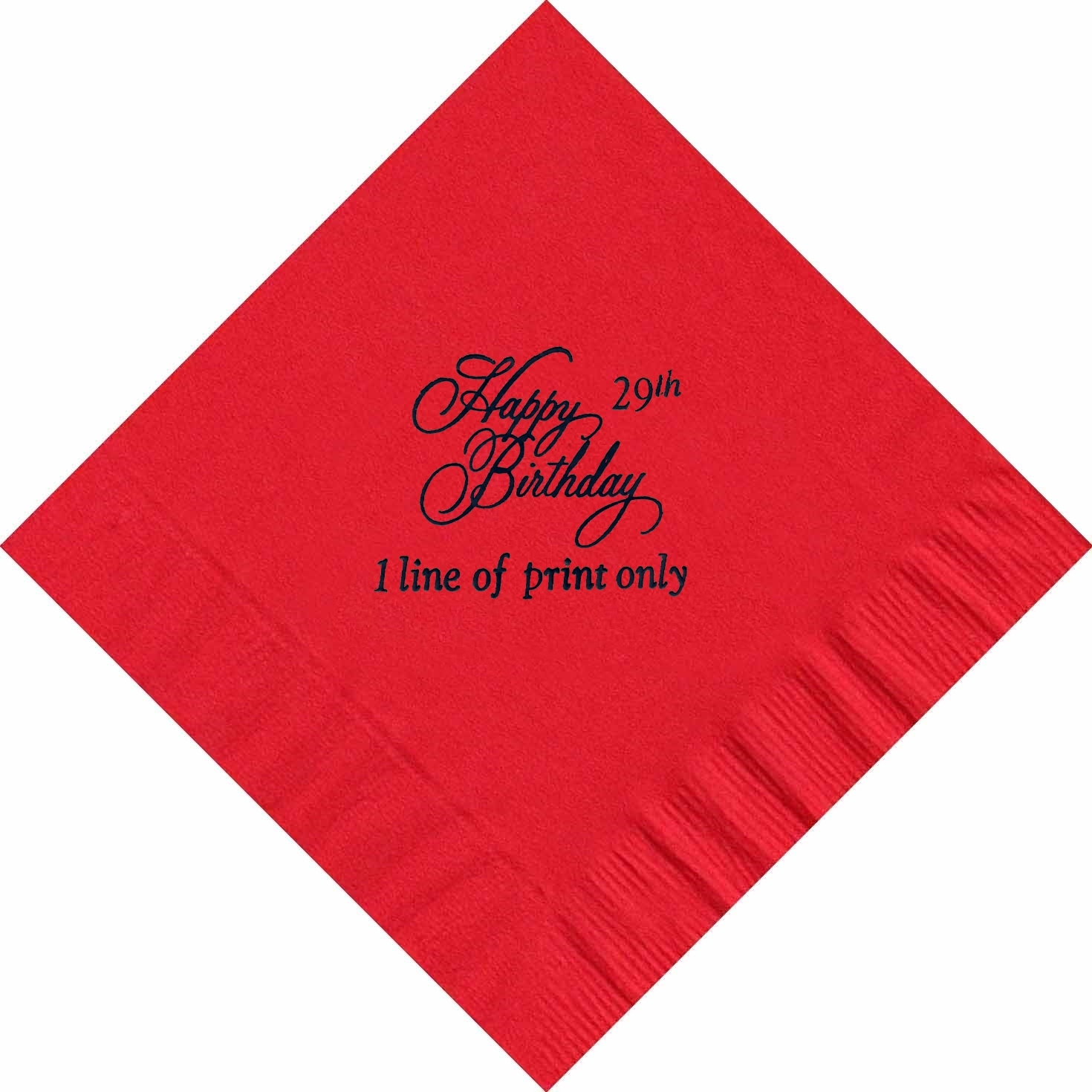 50 PERSONALIZED Happy Birthday printed Luncheon dinner NAPKINS