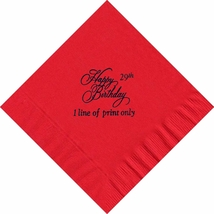 50 PERSONALIZED Happy Birthday printed Luncheon dinner NAPKINS  - $11.95+
