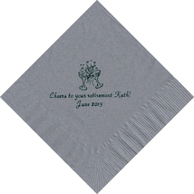 50 PERSONALIZED 2 glasses printed Luncheon dinner NAPKINS with names or ... - £9.24 GBP+