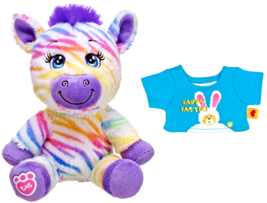 Build a Bear Rainbow Striped Zebra Buddies with... - $59.99