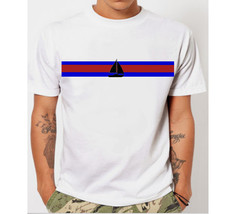 Nautical Boat Sail Stripes Men's T-Shirt - $12.00+