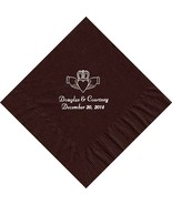 50 PERSONALIZED claddagh ring printed Luncheon dinner NAPKINS with names... - $11.95+