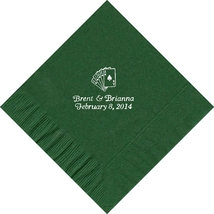 50 PERSONALIZED playing cards printed Luncheon dinner NAPKINS  - $11.95+