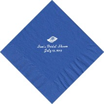 50 PERSONALIZED shell printed Luncheon dinner NAPKINS with names or event - $11.95+