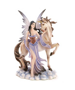 Fairy And Unicorn Figurine Storybook Fantasy  - $18.85